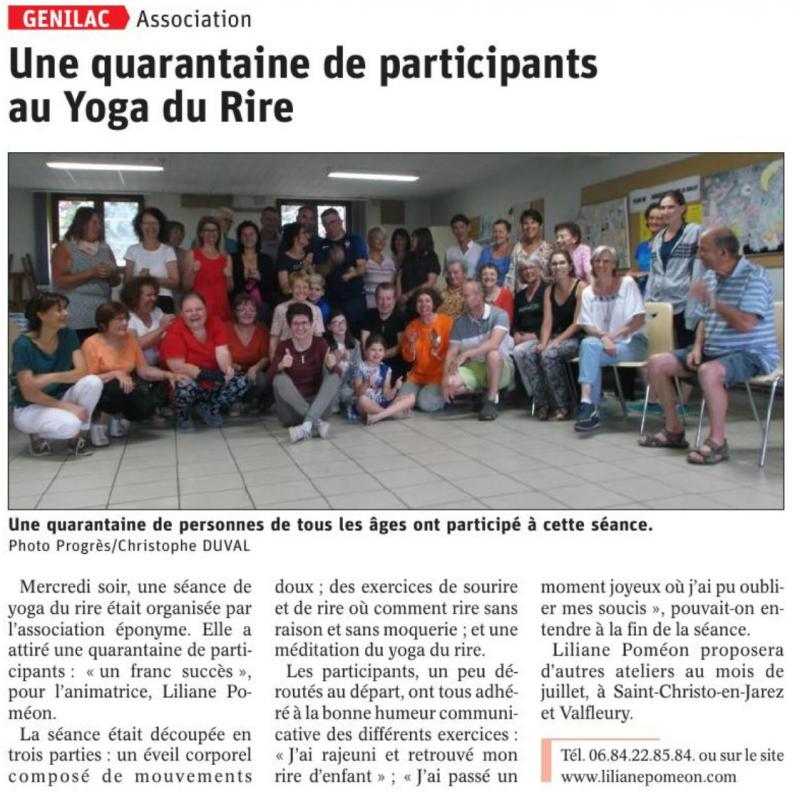 Article 2019 06 22 yoga du rire genilac