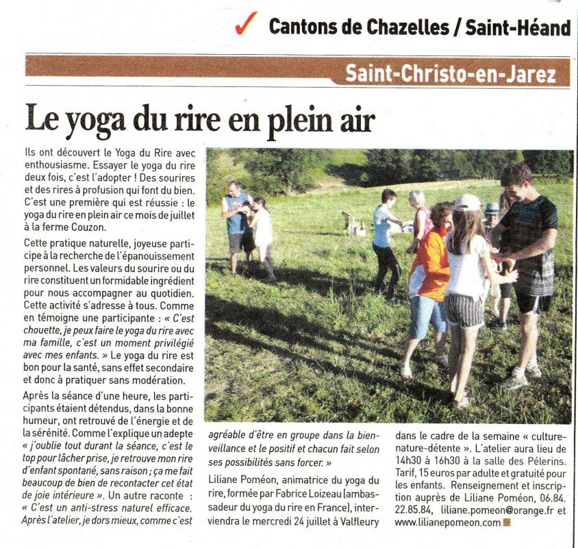 Article 2019 07 19 yoga rire saint christo