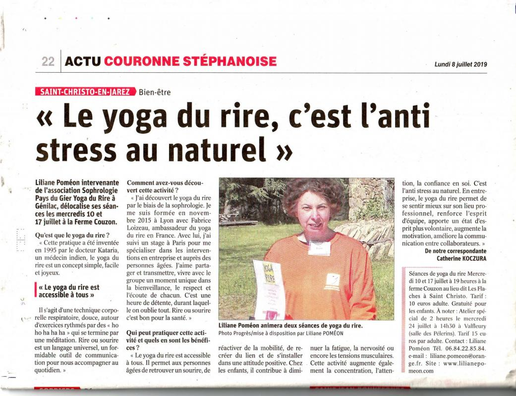 Article le progres saint christo
