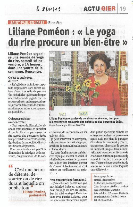 Article le progres st paul en jarez