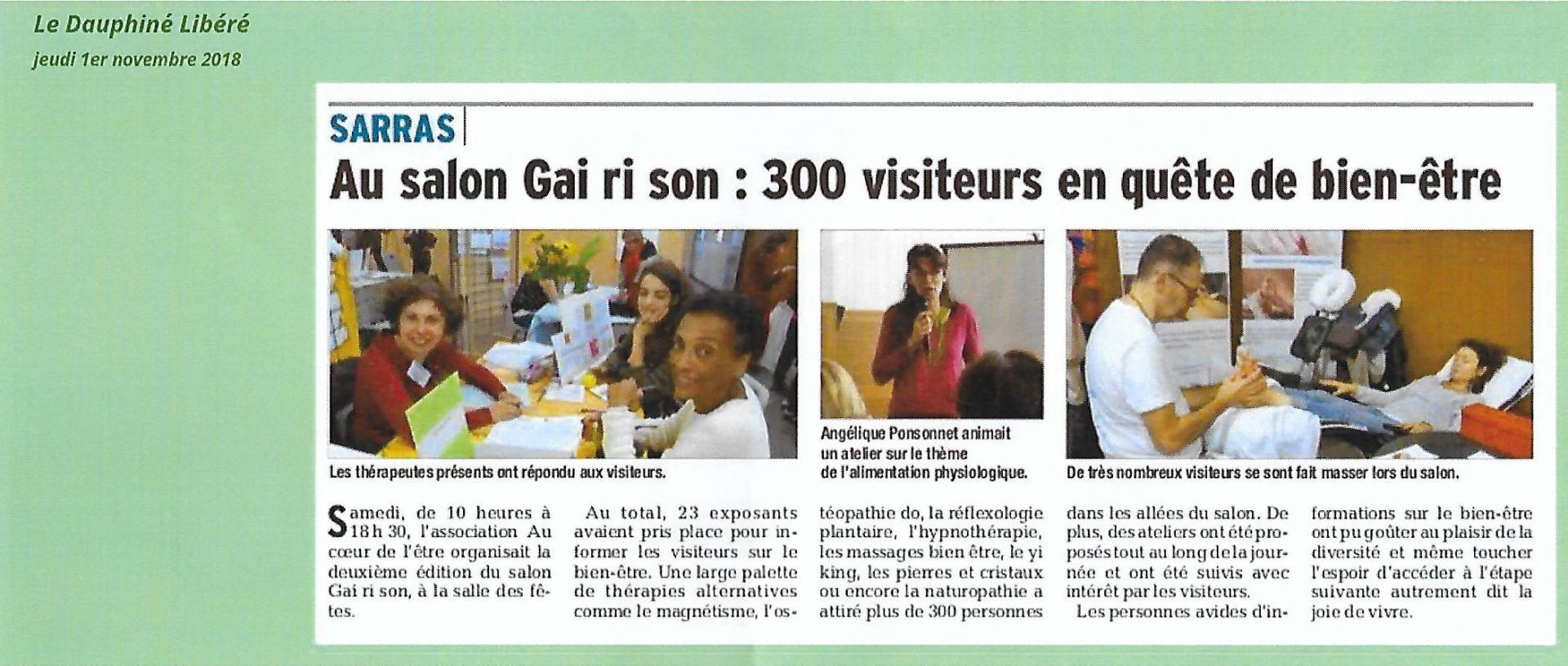 Article presse sarras 2018